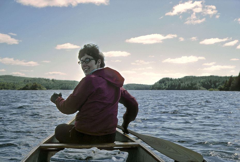 Bonnie Blackmore on a canoe trip in 1968, years before her spinal cord injury. Blackmore was injured in a car crash in 1987. Her paralysis inspired her son Murray's research.